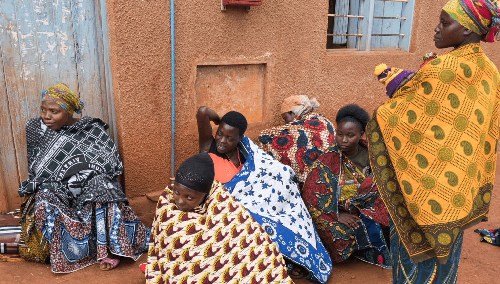 Women wait for consultation at a health center in Buhigwe, Tanzania. Photo by Magali Rochat/VectorWorks, courtesy of Photoshare.