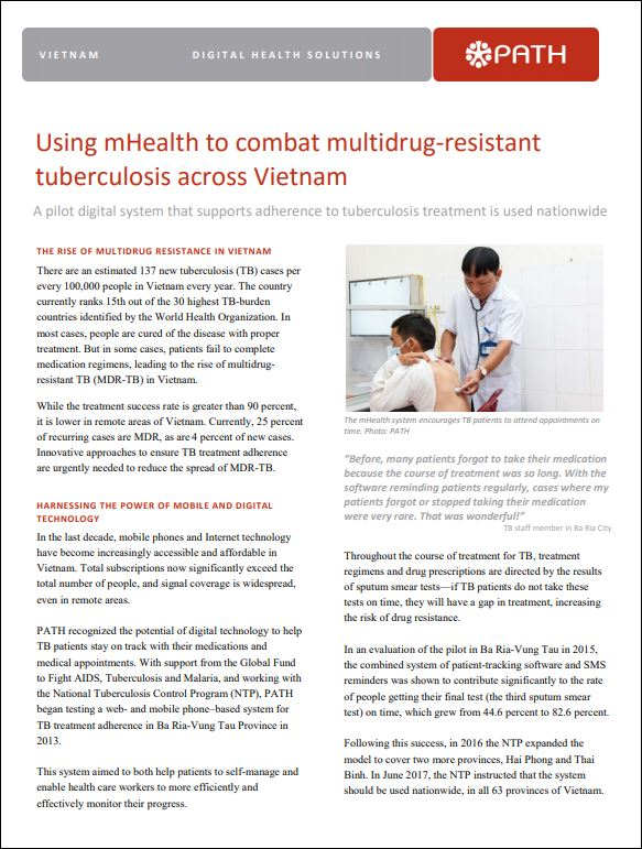 Using mHealth to combat multidrug-resistant tuberculosis across Vietnam